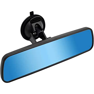 Espejo retrovisor interior de doble cara Número De Matrícula Autoadhesivo X8 poste libre *