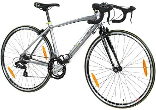 Viking Vuelta Road Racing Bike 700c Wheel 14 Speed Alloy Very Small 45cm Frame Silver Grey Amazon Co Uk Sports Outdoors