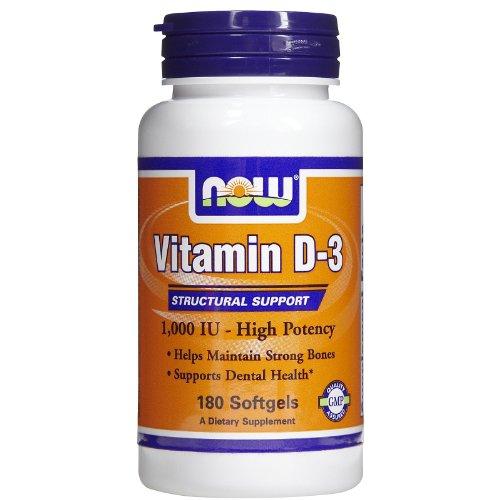 Miami Clog - NOW Vitamin D-3 1,000 IU,180 Softgels
