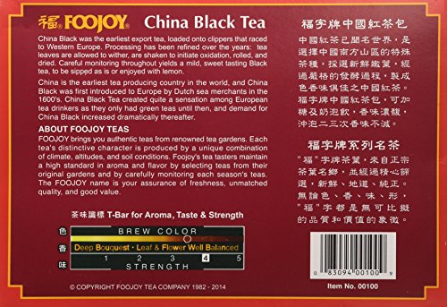 Foojoy China Black Tea - 100 Tea Bags 2 Foojoy China Black Tea Fresh tea leaves are carefully fermented to create a mellow tasting tea with an attractive reddish infusion 100 Tea Bags