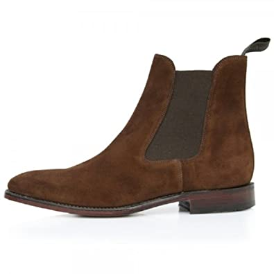 ee829041cc7 Loake Men's Mitchum Classic Brown Suede Chelsea Boot: Amazon.co.uk ...