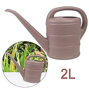 Essential Multi funcional jardín 2L litros regadera de plástico, con mango de fácil de usar y caño largo–piedra