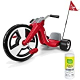 Radio Flyer Big Wheel Kids Pedal Ride On Tricycle for Boys, Red with Disinfectant Wipes