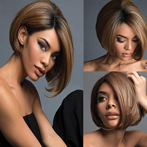 - Euone Wig, Brazilian Virgin Charming Wig Hair Full Short Bob Wigs for Fashion Black Women