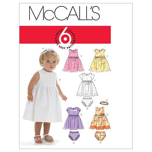 McCall's Patterns M6015 Infants' Lined Dresses, Panties, used for sale  Delivered anywhere in USA