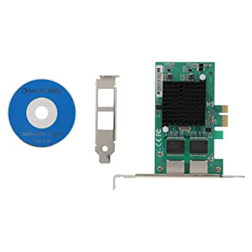 Diyeeni Tarjeta de Red PCI-E para Controlador Intel 82575 Gigabit ...
