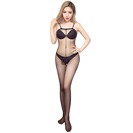 9b49a4cbce Selebritee Sexy Body Stockings for Women Crotchless Mesh Bodysuit Teddy  Lingerie