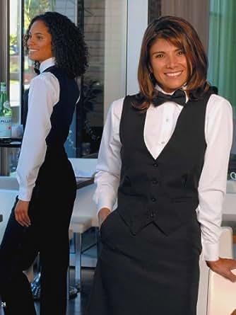 Womens Polyester Black Tuxedo Vest (18)