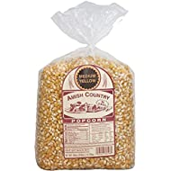 Amish Country Popcorn - Yellow Popcorn - Old Fashioned, Non GMO, and Gluten Free - with Recipe Guide (Medium Yellow, 6 Lb Bag)