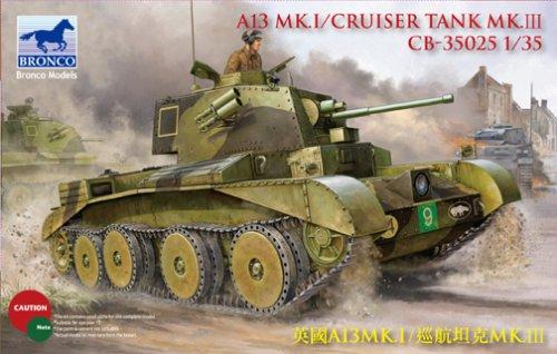 - A13 Mk I Cruiser British Tank Mk III 1-35 Hobby Boss