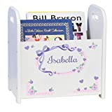 Personalized Child's Book Storage Magazine Rack - Lacey Bow