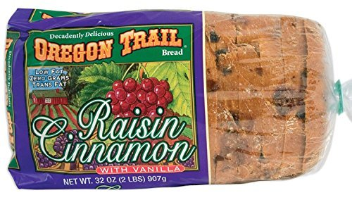 Oregon Trail Raisin Cinnamon with Vanilla Bread - 2-32 oz. Loaves (Best Cinnamon Raisin Swirl Bread)