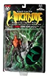 Top Cow Year 1998 Clayburn Moore Witchblade Series 6 Inch Tall Action Figure - KENNETH IRONS with Sinister Staff of Power and Display Stand by Top Cow