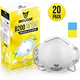 Dust Mask Respirator 95% Filtration N95 Breathing Face Masks Disposable (20 Pack) CDC   NIOSH Certified