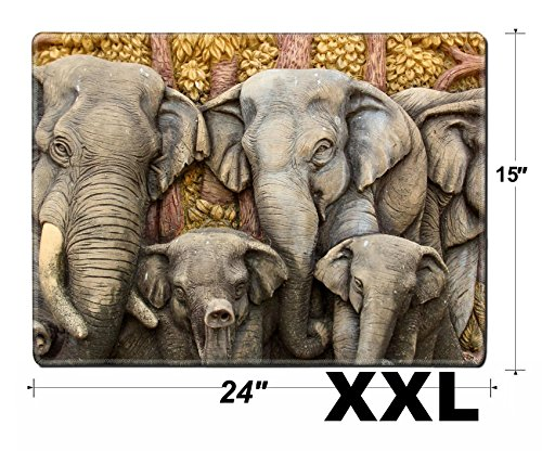 - MSD Extra Large Mouse Pad XXL Extended Non-Slip Rubber Large Gaming Desk Mat IMAGE 20676218 Native Thai style molding art