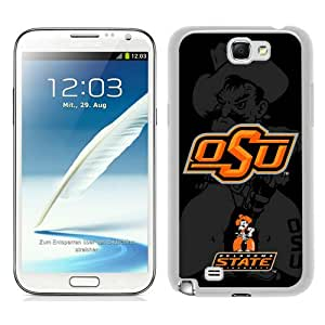 Beautiful And Unique Designed Case For Samsung Galaxy Note 2 N7100 With NCAA Big 12 Conference Big12 Football Oklahoma State Cowboys 14 white Phone Case