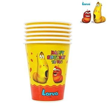 Amazon.com: Larva vasos de papel desechables One fiesta de ...