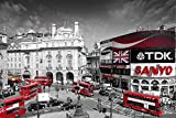 London Piccadilly Circus Art Print Poster - 24x36 Poster Print, 36x24