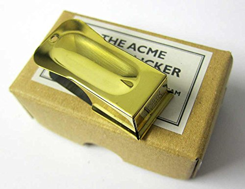 (Airborne Cricket Paratrooper WW2 clicker clacker US Army USA D-Day Normandy wk2 New Acme Para Brass with Hole )