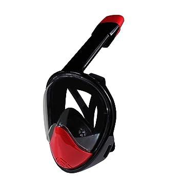 KOBWA Actualizado Versión Máscara de Buceo,180 Grados Vista Mascara de Buceo con Tecnología Anti