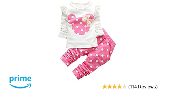 23faf6f2d Amazon.com  Baby Girl Clothes Infant Outfits Set 2 Pieces Long ...