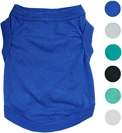 L Alroman Pet Shirts Dog Vest Puppy Tee Dog T-Shirt Cat Vest Cat Shirts Pet Clothes for Small Dogs and Cats Doggie Stripes T-Shirt Cats Apparel Puppy Summer Apparel Pet Beach Wear