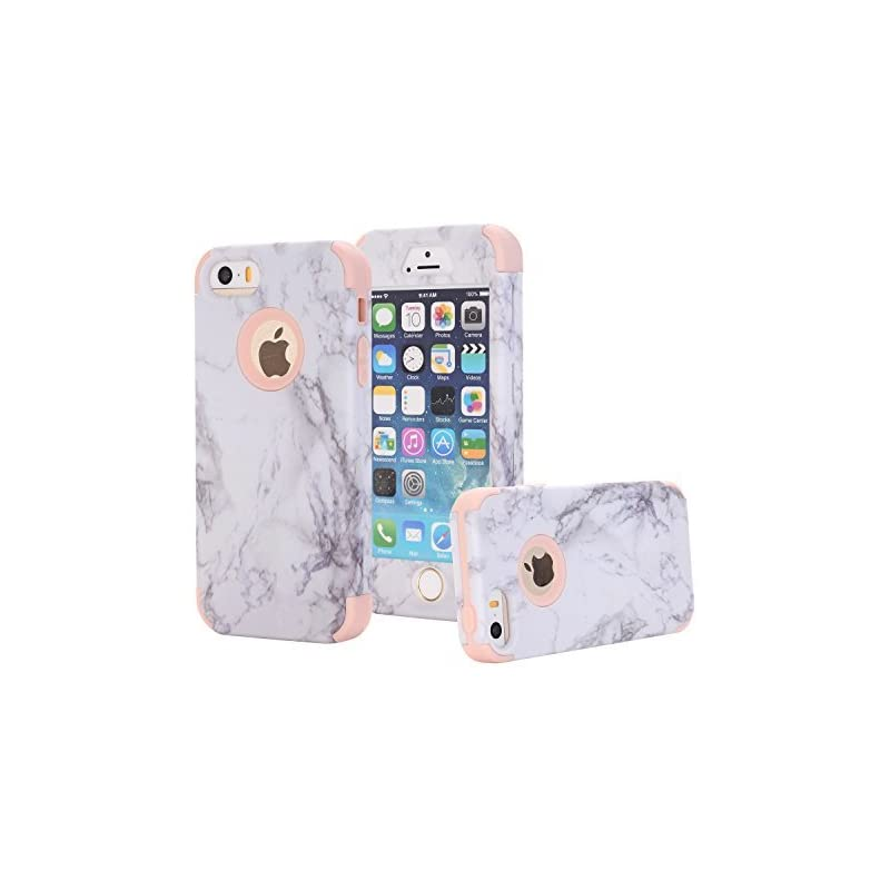 iPhone 5 5S Case, KMISS Marble Pattern [