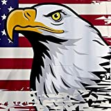 Hooded Shirt for Men F_Gotal Men's T-Shirts Fashion Summer Short Sleeve American Flag Cool Eagle Hooded Blouse Tops Beige