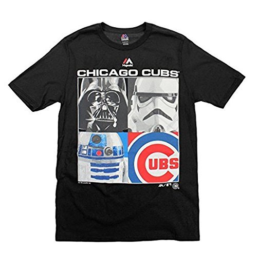- Majestic MLB Boys Youth Star Wars Main Character T-Shirt, Chicago Cubs, Large (14-16)