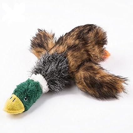 KINGDUO Squeaker Durable Perro Juguetes Peluche Masticar Cosas del Pato De Juguete para Perros