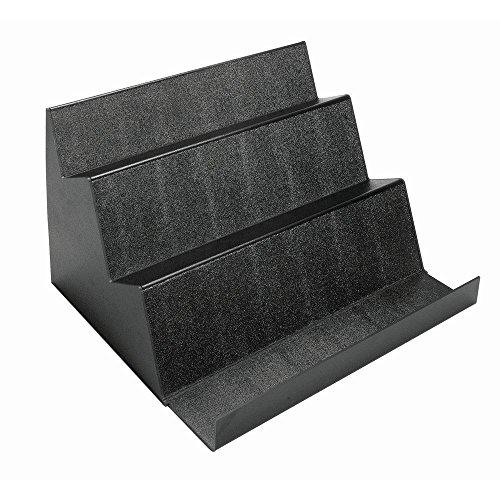 Deli Display Riser 3-Step Black Solid ABS Bulk Riser - 20 3/4 L x 24'' W x 14'' H by Hubert