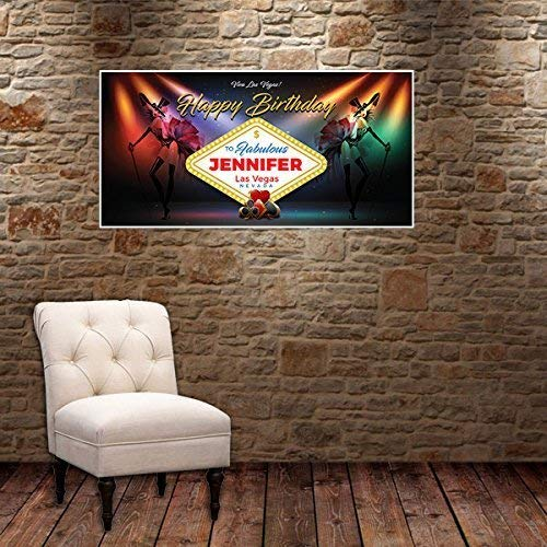 Las Vegas Stage Lights Birthday Banner Party Decoration Backdrop