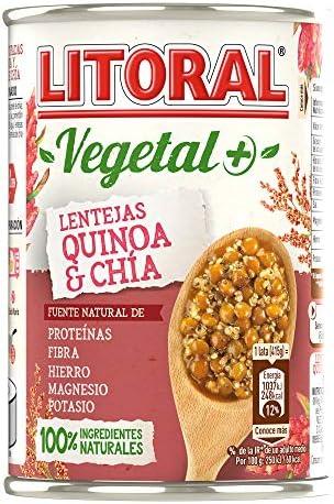 Litoral Vegetal Lentejas Quinoa Chía - 415 gr: Amazon.es: Alimentación y bebidas