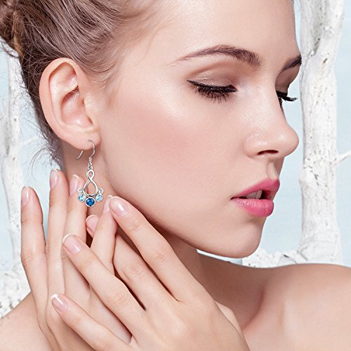 Buy sterling dangle crystal earrings