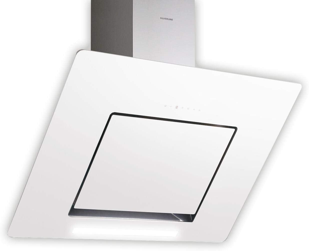 Silverline Andromeda Deluxe ANW 885.3W/pared Campana/acero inoxidable/cristal//blanco/80cm/cabeza libre/B