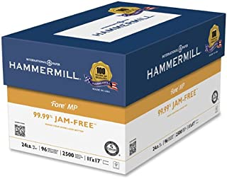 product image for Hammermill 102848 Fore MP White Multipurpose Paper, 96 Bright, 24lb, 11 x 17, 500 Sheets
