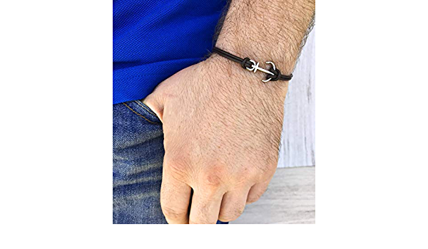 snap button personalized bracelet custom engraved bracelet nautical leather cuff bracelet for men gifts for him nautical jewelry