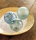 Sea Glass Globes, set of 3