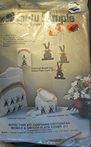 Sew Simple Plastic Canvas Kit Cottontail Mobile Switchplate Cover 311 by Sew Simple