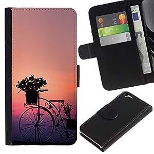 ZCell / Apple Iphone 6 / Bicycle Design Art Flowers Sunset Sunrise Garden / Caso Shell Armor Funda Case Cover Wallet / Bicicletas Diseño