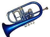 Queen Brass Flugelhorn 4Valve Bb/F Pitch W/Case