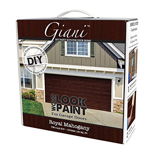 Giani Wood Look Garage Door Paint Kit, 2 Car, Royal Mahogany -