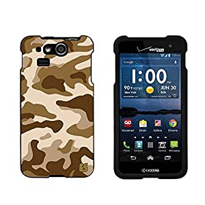 Spots8Â« For Kyocera Hydro Elite C6750 (Verizon) Glossy Image Hard Case 2 Piece Snap On Cellphone Plastic Cover - ACU Camo Desert Design