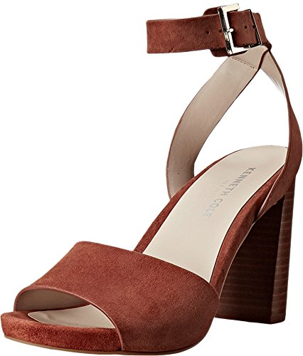 Cole Kenneth Sandals Suede (Kenneth Cole New York New Women's Toren Sandal Rust Suede 6.5)