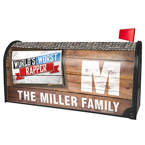 NEONBLOND Custom Mailbox Cover Funny Worlds Worst Rapper