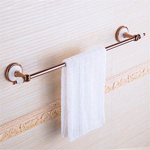 LAONA European-style rose gold jade round base kit bathroom towel rack soap box, single lever