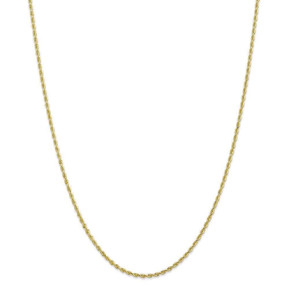 Mia Diamonds 10k Yellow Gold 2.00mm Diamond-Cut Quadruple Rope Chain Necklace