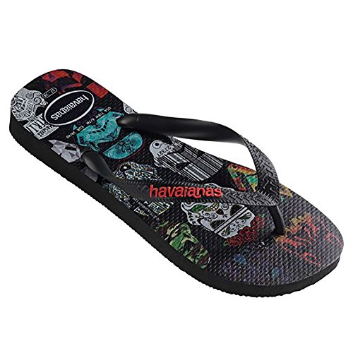 Havaianas Mens Star Wars Sandal Flip Flop Nero / Nero / Rosso
