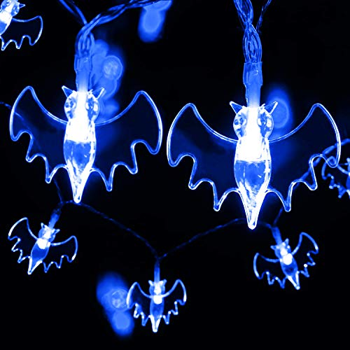 AYOGU Halloween Bat String Lights,20 LED 7Ft Battery Operated Fairy Lights,Perfect for Halloween Party/Outdoor/Indoor Decorations