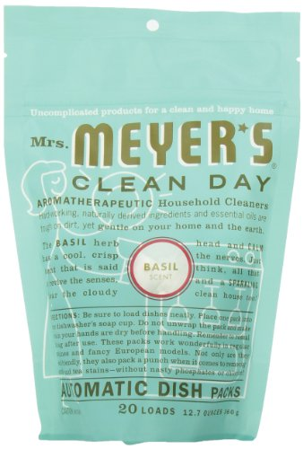Dishwashing Auto - Mrs. Meyer's Clean Day Auto Dishwashing Packs, Basil, 20 count  (Pack of 6)